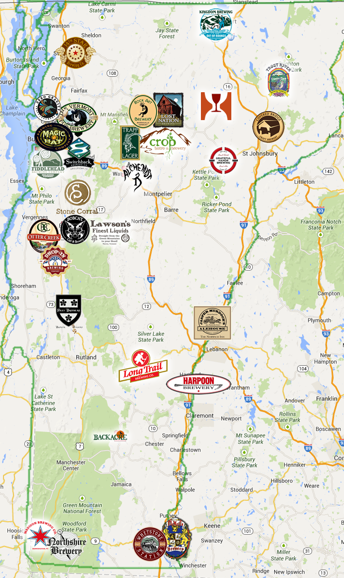 Vermontmap Green Mountain Tours - Vermont in us map